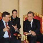 Ceylan Gürman Şahinkaya – TBMM Başkanı Mehmet Ali Şahin- AGITPA Başkanı Petros Efthymiou görüşmesi (2011)