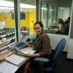 Ceylan Gürman Şahinkaya, New York Birleşmiş Milletler toplantısında çeviri kabininde Ceylan Gürman Şahinkaya-Birleşmiş Milletler -New York