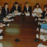 Zeynep Bekdik bir toplantıda çevirmenlik yaparken (1980'li Yıllar)