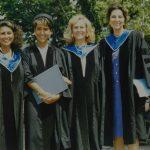 Zeynep Bekdik, Aylin Koçak, Belgin Dölay, Okşan Atasoy – Boğaziçi Üniversitesi Çeviribilim Bölümü Mezuniyet Töreni (1980'li Yıllar)