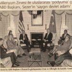 Hande Güner, Ahmet Necdet Sezer, Bill Clinton, İsmail Cem, Madeleine Albright – Milenyum Zirvesi  (2001)